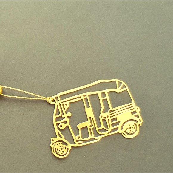Bookmark Design-Brass metal cutting Tuk Tuk